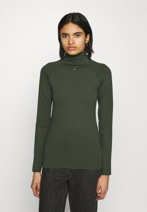 MOCK  - Long sleeved top - dark algae
