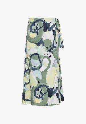 FRAN WRAP - A-line skirt - khaki/green/dusty light khaki