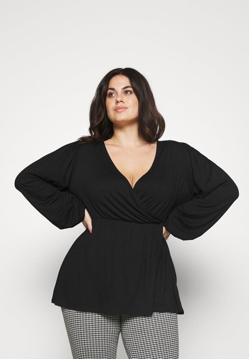 Simply Be - BALLOON SLEEVE  - Long sleeved top - black