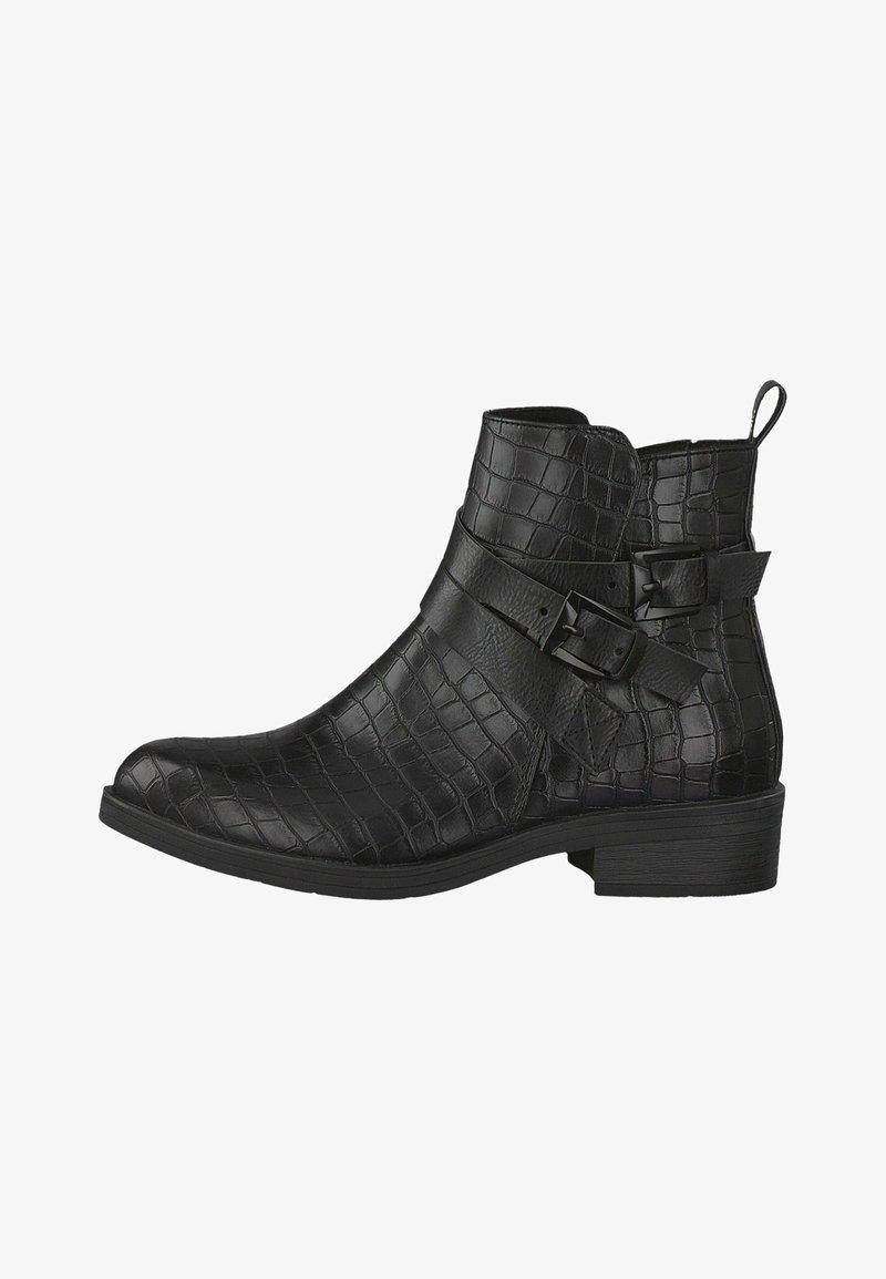 Marco Tozzi - STIEFELETTE - Ankle boots - black cro.com.