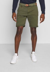 INDICODE JEANS - CONER - Shorts - army - 0