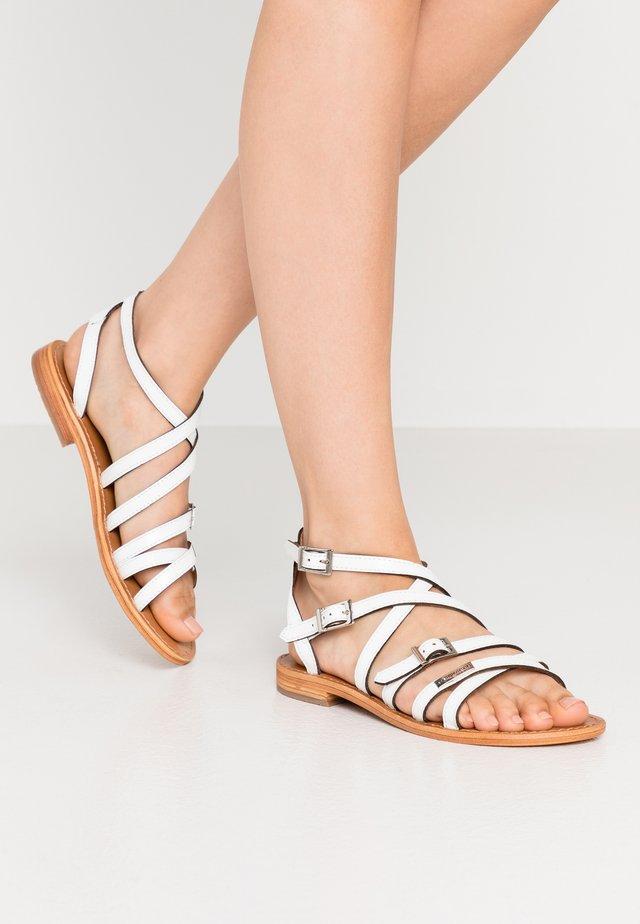 BOUCLE - Sandals - blanc
