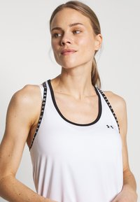 Under Armour - KNOCKOUT TANK - Sports shirt - white/black