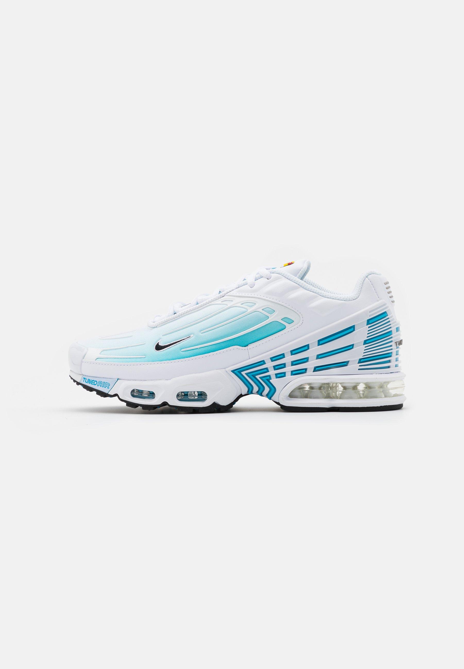 Novelista En otras palabras Lima  Nike Sportswear AIR MAX PLUS III - Zapatillas - white/black/laser  blue/enigma stone/glacier ice/blanco - Zalando.es