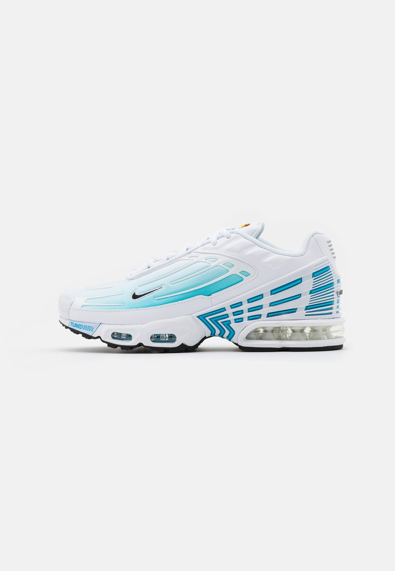 Nike Sportswear - AIR MAX PLUS III - Tenisky - white/black/laser blue/enigma stone/glacier ice
