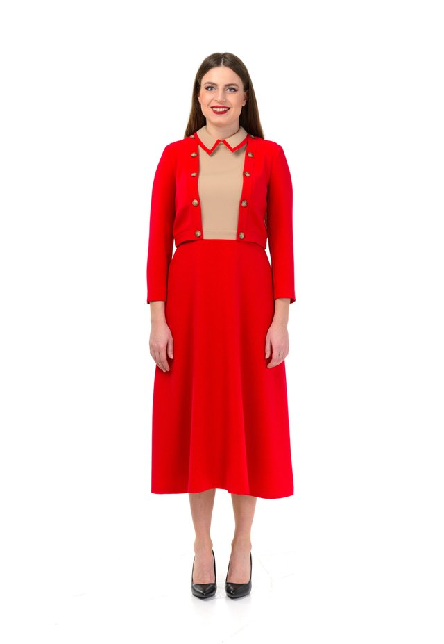 JAQLINE - Korte jurk - dark red