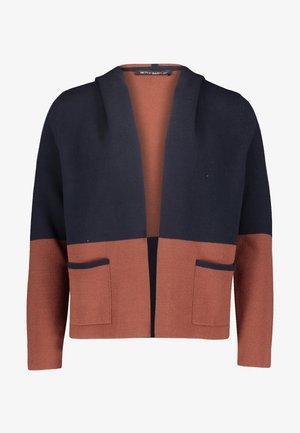 CASUAL MIT KAPUZE - Cardigan - dark blue/brown