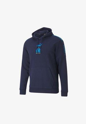 Hoodie - peacoat-bleu azur