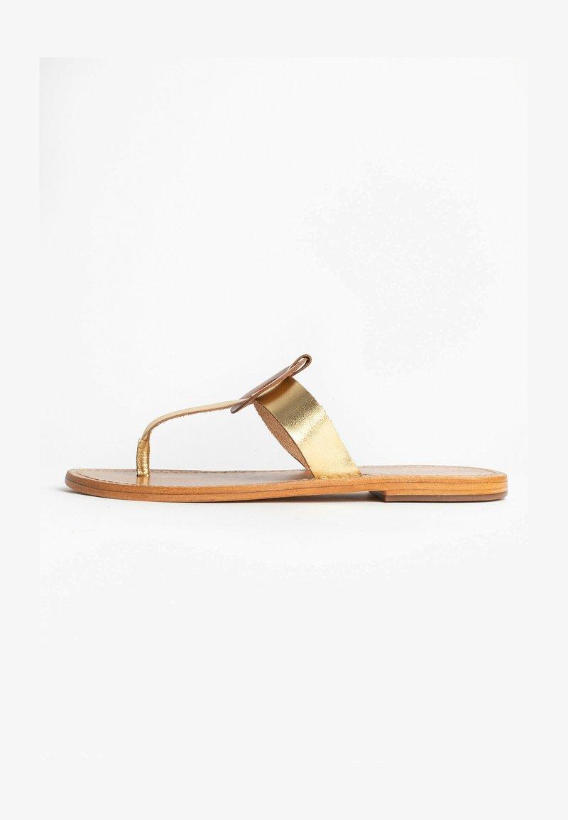 Les Bagatelles - ROSHEEN - T-bar sandals - gold
