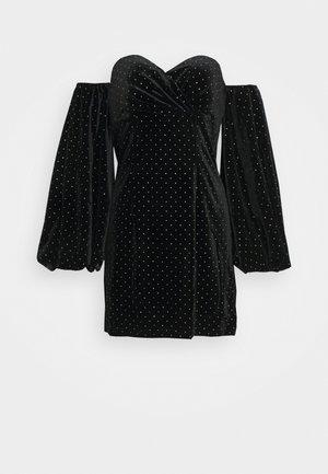 PUFF SLEEVE MINI DRESS - Robe d'été - black