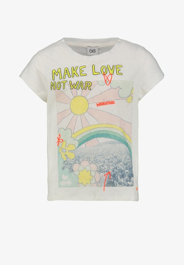 ELIE - Print T-shirt - off white