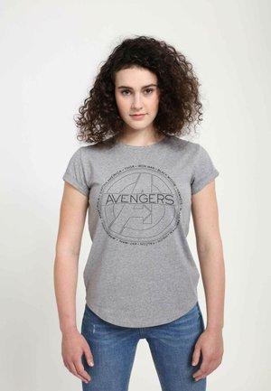 MARVEL AVENGERS CIRCLE ICON  - T-shirts print - melange grey