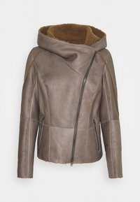 VSP - MERINILLO - Leather jacket - tabacco/elephant - 0