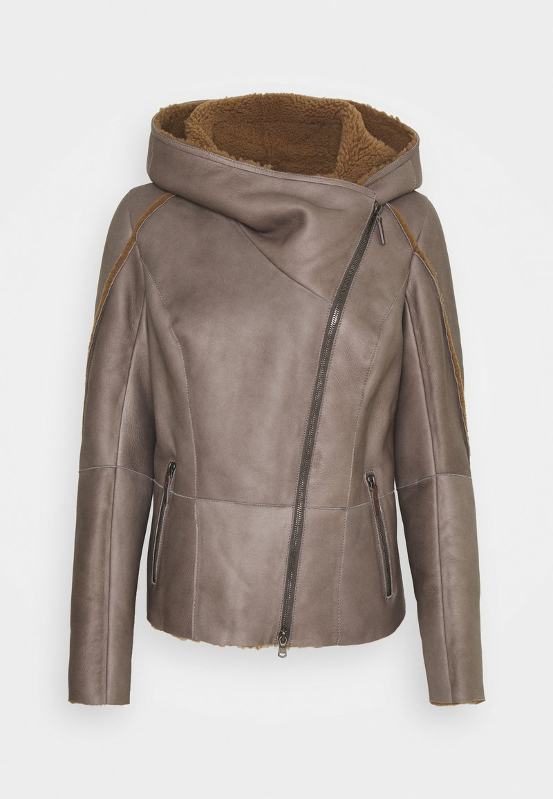 VSP - MERINILLO - Leather jacket - tabacco/elephant