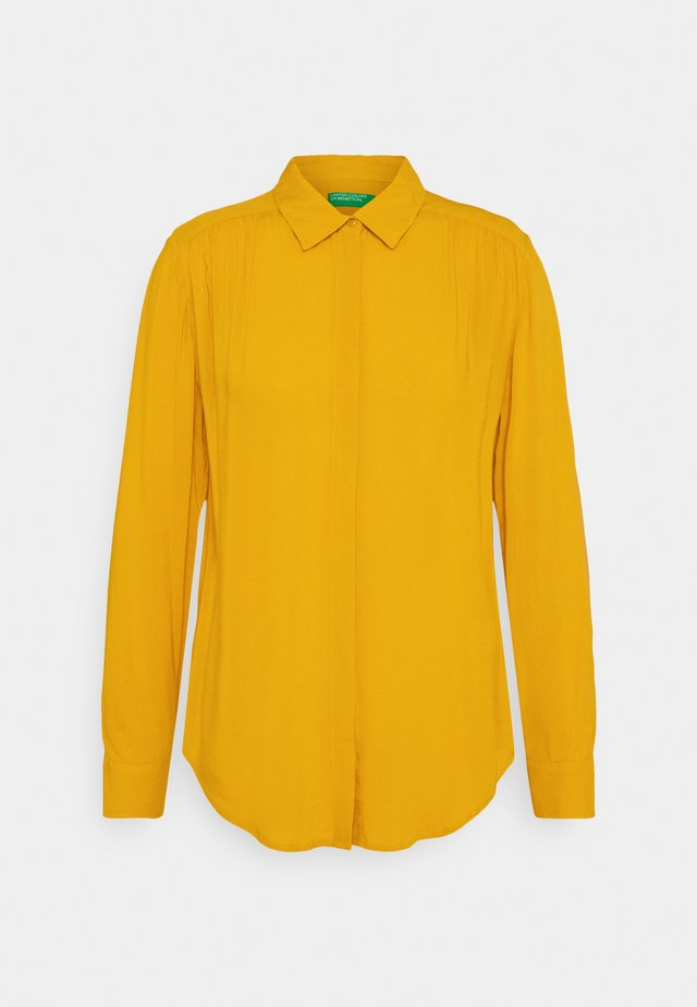 Button-down blouse - mustard
