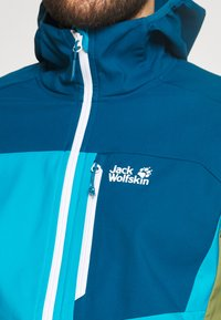 Jack Wolfskin - EAGLE PEAK - Softshellová bunda - blue jewel - 4
