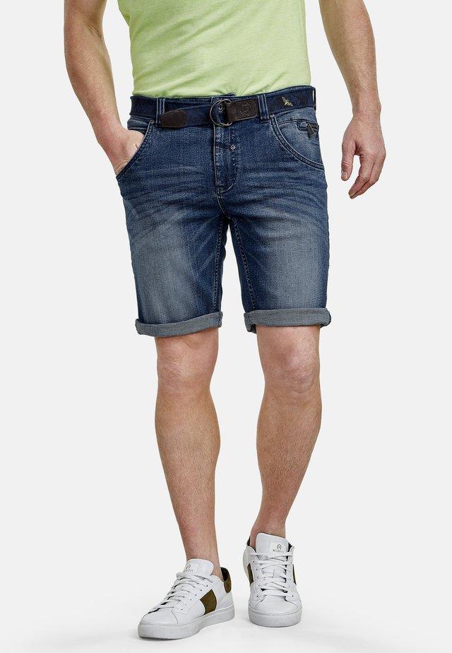 Denim shorts - sports blue
