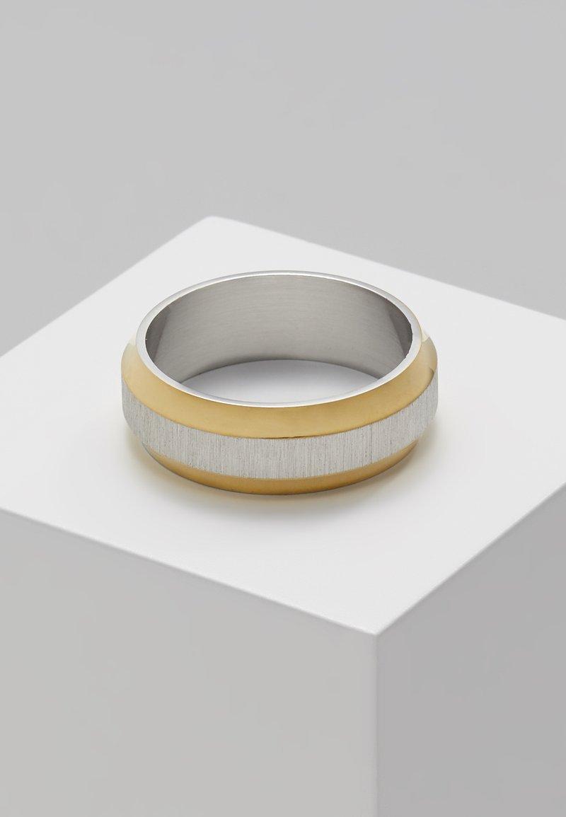 Topman - TWO TONE EDGED - Ring - metallic grey