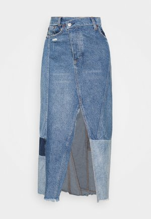TENNYSON MIDI - Denim skirt - vintage blue