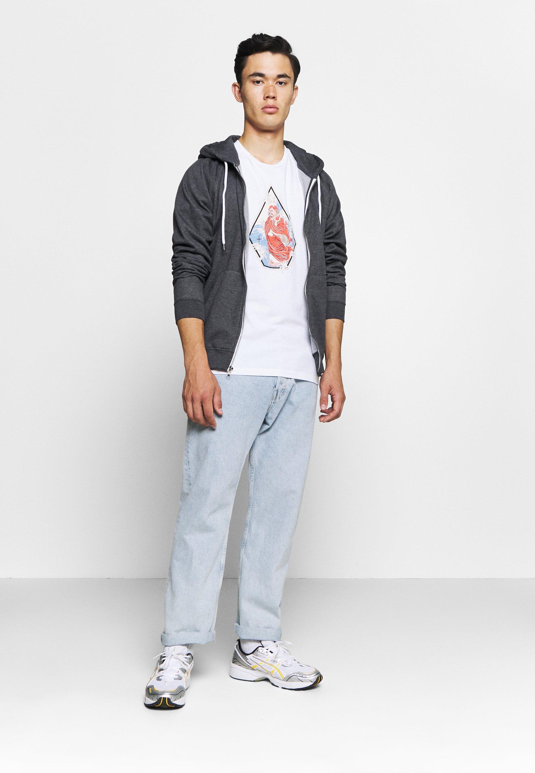 Volcom Nozaka Surf - T-shirts Med Print White/hvit