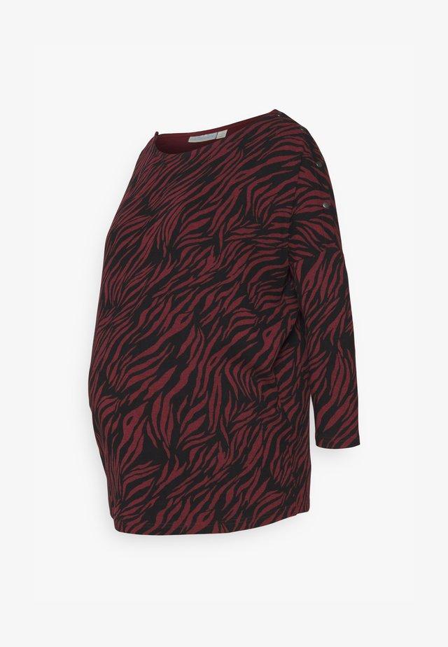 ZEBRA MATERNITY NURSING  - Camiseta de manga larga - wine
