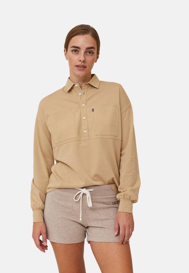 Shorts - light brown melange