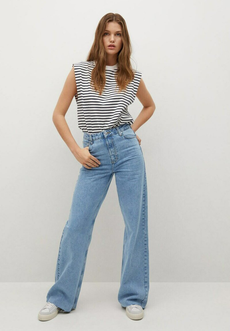 Mango - Jeans Relaxed Fit - mittelblau
