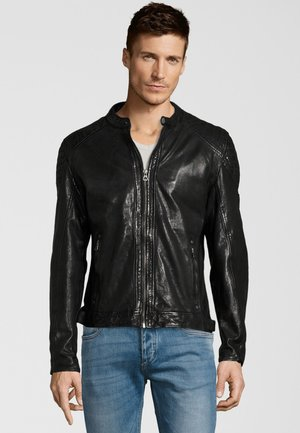 GARREN  - Leather jacket - black