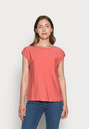 KURZARM - T-shirt basic - terracotta