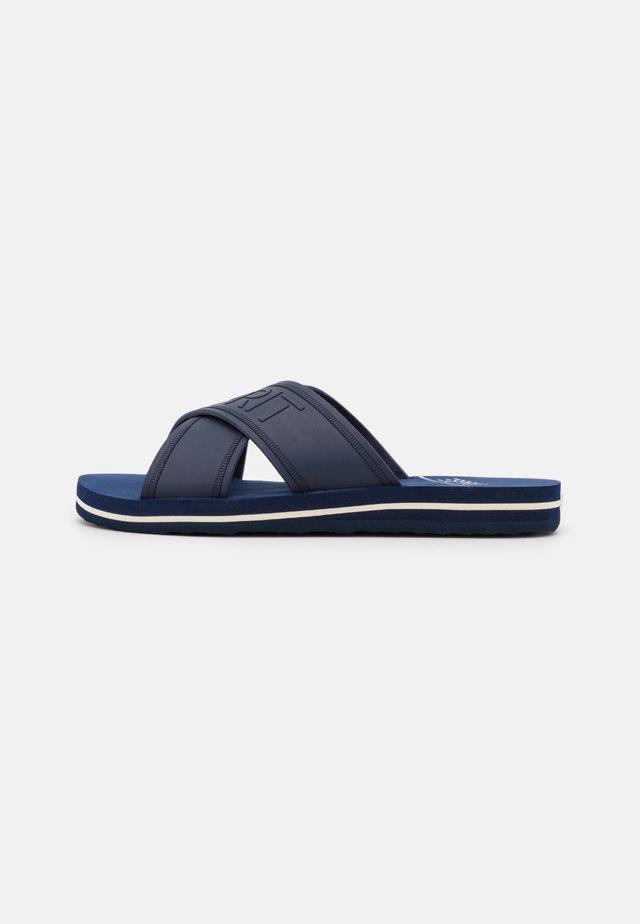 BELLA LOGO  - Pantolette flach - dark blue