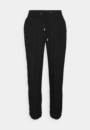 KAAMBER CROPPED PANTS - Trousers - black deep