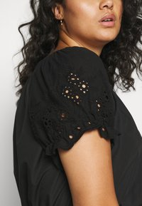 ONLY Carmakoma - CARLUCIA OFFSHOULDER CALF DRESS PLUS - Korte jurk - black - 5