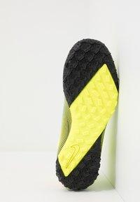Nike Performance - MERCURIAL JR 7 ACADEMY TF UNISEX - Astro turf trainers - lemon/black/aurora green - 5