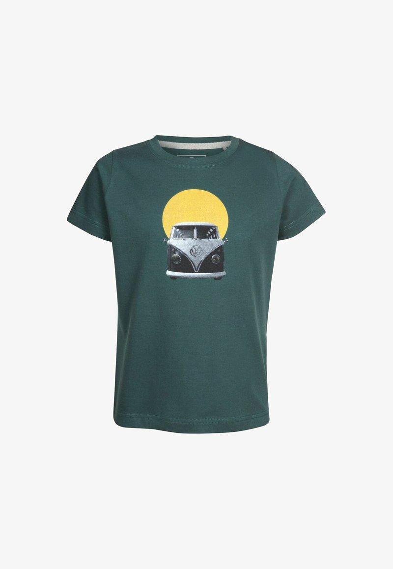 Elkline - SUNRISE - Print T-shirt - trekking green