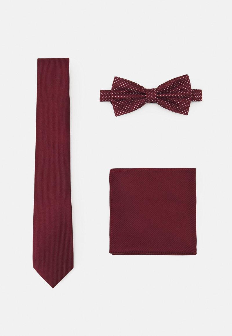 Pier One - SET - Krawat - bordeaux