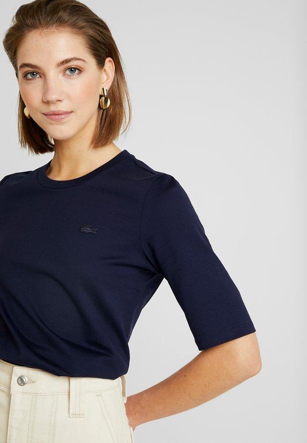 Lacoste ROUND NECK CLASSIC TEE - T-shirt basic - navy blue Kolor jednolity Odzież Damska OYET YO 8