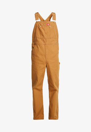 BIB OVERALL - Dungarees - brown duck