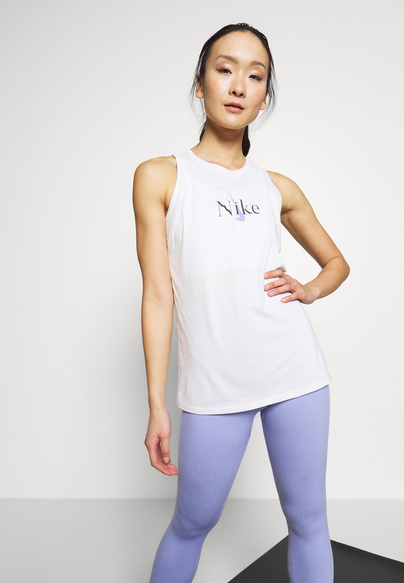 Nike Performance - DRY TANK YOGA - Camiseta de deporte - summit white