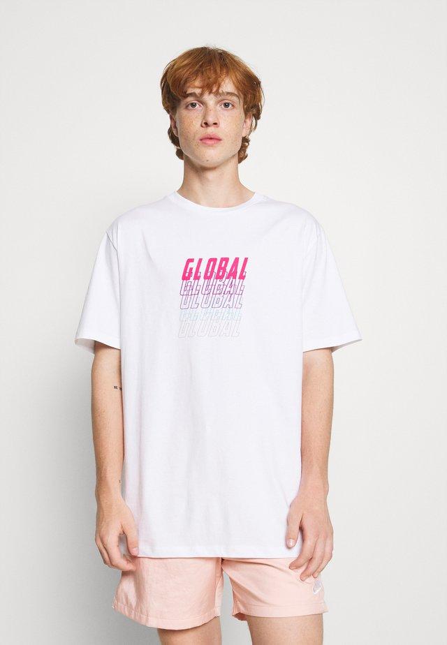 FRONT & BACK GRAPHIC UNISEX - T-shirt print - black
