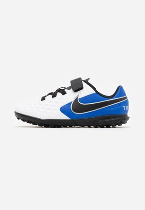 TIEMPO LEGEND 8 CLUB TF - Astro turf trainers - white/black/hyper royal/metallic silver