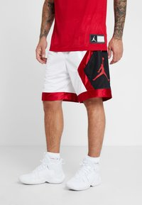 Jordan - JUMPMAN DIAMOND SHORT - Sports shorts - white/gym red/black - 0