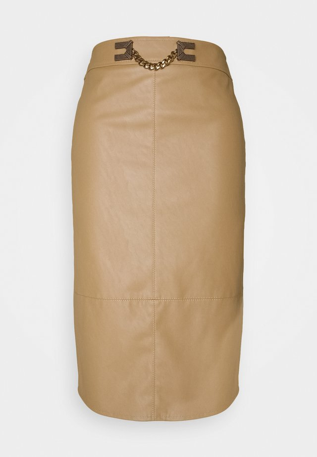 WOMEN'S SKIRT - Pencil skirt - tortora