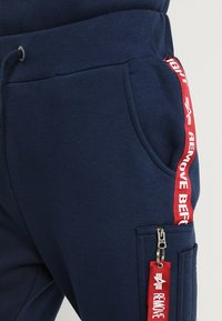 Alpha Industries - JOGGER TAPE - Tracksuit bottoms - new navy - 3