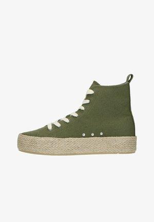 Sneakers hoog - dunkelgrün
