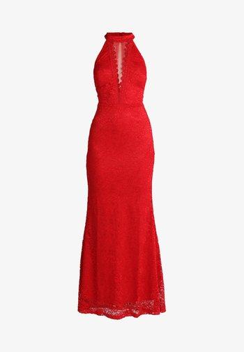 HIGH NECK MAXI - Vestido de fiesta - red