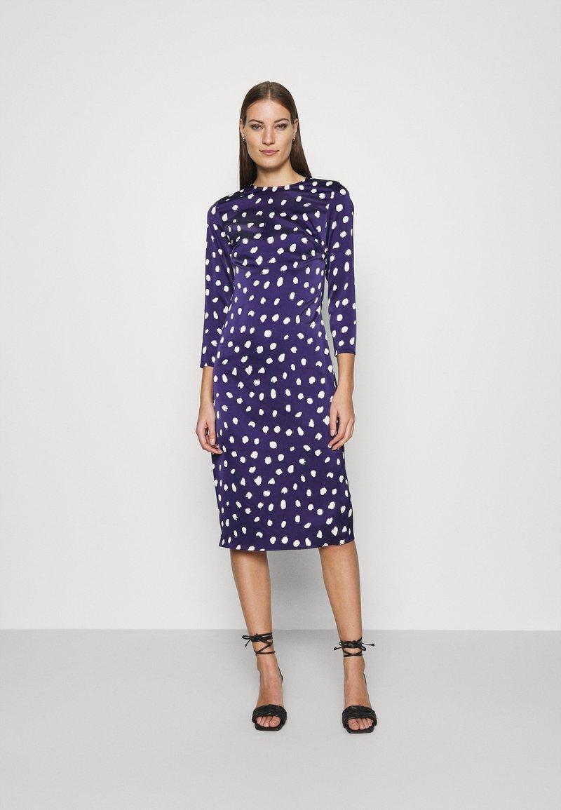 Who What Wear - TRIPLE BOW DRESS - Denní šaty - navy