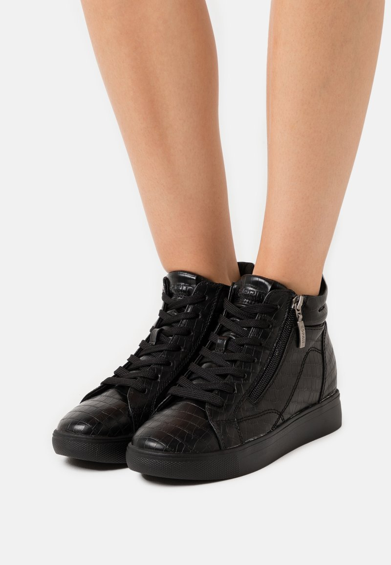 Esprit - GRANADA - Sneakersy wysokie - black