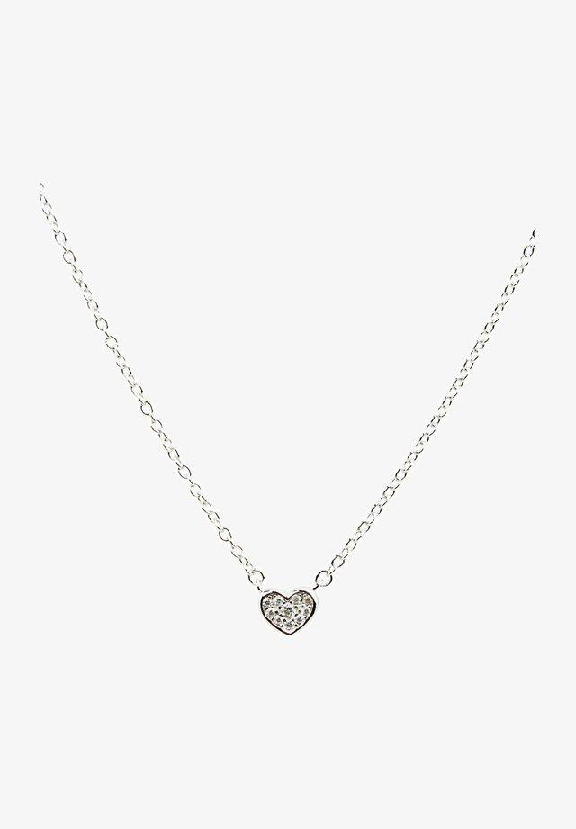MIT ZIRKONIA-ANHÄNGER, STERLING SILBER - Halsband - silver-coloured