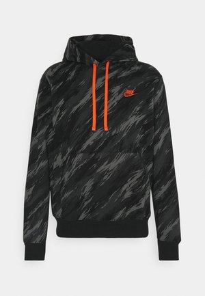 HOODIE - Sweatshirts - black/orange