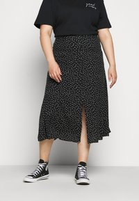 ONLY Carmakoma - CARLOLA LONG  - A-line skirt - black/white - 0